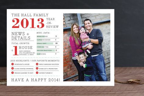 Family Year in Review Christmas Photo Cards - this is cute! maybe I can design it myself?