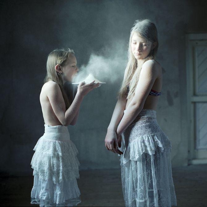 Dutch photographer Hellen Van Meene captures otherworldly portraits of mostly teenage girls since 1996. Van Meene creates a slightly surreal atmosphere within h