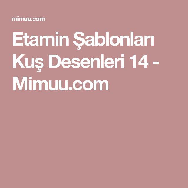 Etamin Şablonları Kuş Desenleri 14 - Mimuu.com