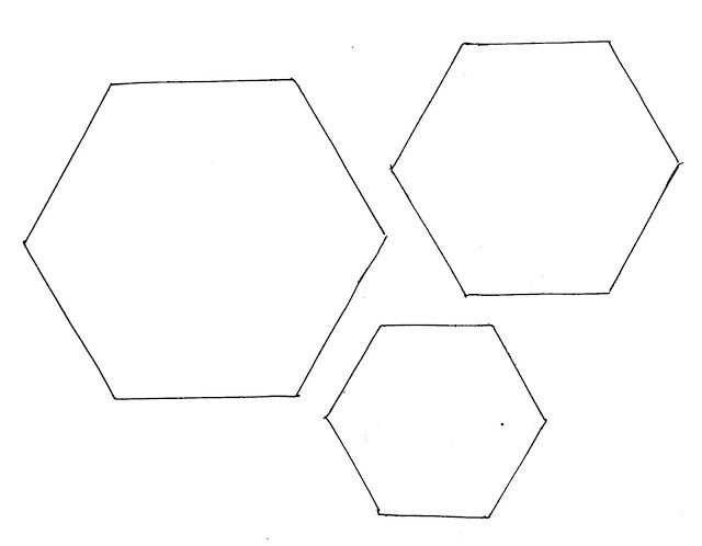 hexagon quilt template plastic - 1000 images about templates on pinterest starfish