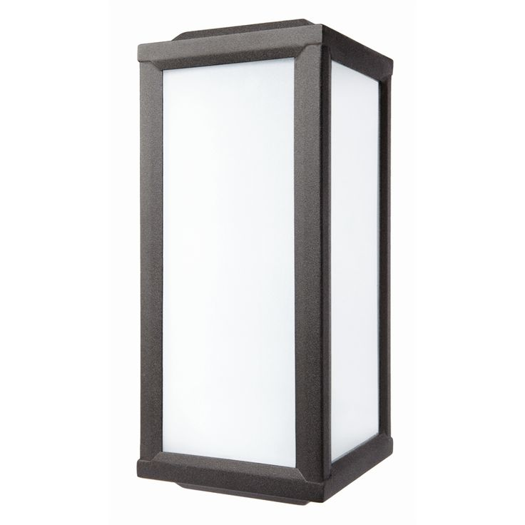 Brilliant 100W Stapleton Black Exterior Lantern Wall Light