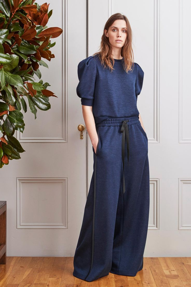 love this mix of styles to give a new lux lounge look Adam Lippes Pre-Fall 2017 collection.