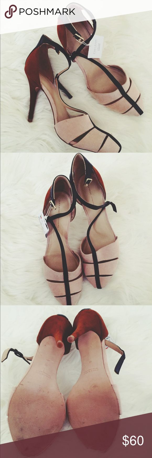 ||ZARA|| Heels So stylish and on trend, these heels are the perfect addition to any wardrobe. Purchased in the UK. Never worn. Tried on only. No trades. Open to offers. Zara Shoes