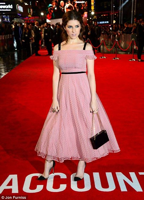 Dressed to impress: Anna worked the red carpet