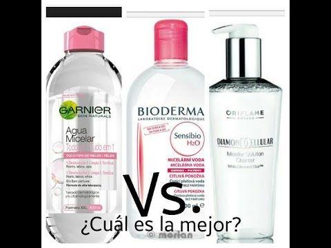 Agua Micelar - Bioderma Vs. Oriflame Vs. Garnier / Reseña y Competencia!! - Andrea Flores Tv - YouTube