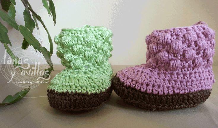 Tutorial Botas Bebe Crochet o Ganchillo Baby booties (english sub)