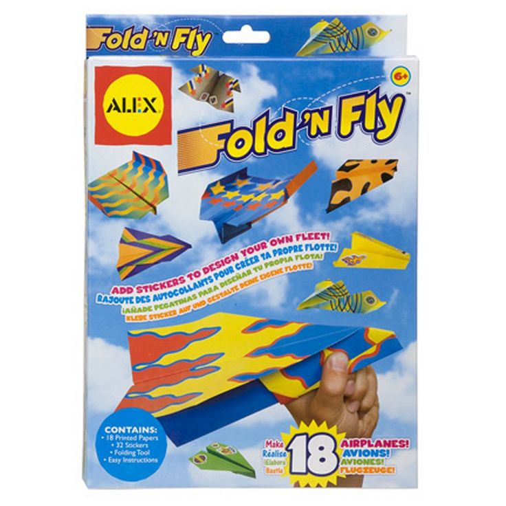 Alex Fold 'N Fly Paper Airplanes, Multicolor