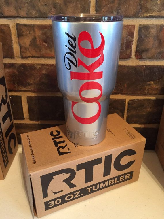 Diet Coke Powder Coated RTIC 30oz Stainless by CrissCrossCraft