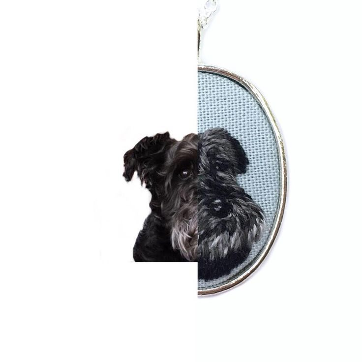 How adorable is this little schnauzer? Pet portraits are available as a necklace, keychain or pin and in several different settings. Check…