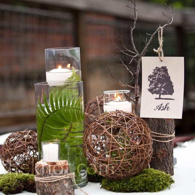 According to TheKnot.com - 'Refined Woodland' is the trend this year - moss, ferns, and lots of wood.