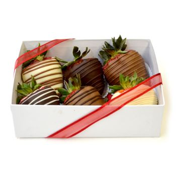 #bowmanvilleflowers #valentinesday #giftideas #love #chocolatecoveredstrawberries  Swirl Berries - 6 Box   Bowmanville, Courtice, Newcastle, Oshawa, Whitby Flower Delivery