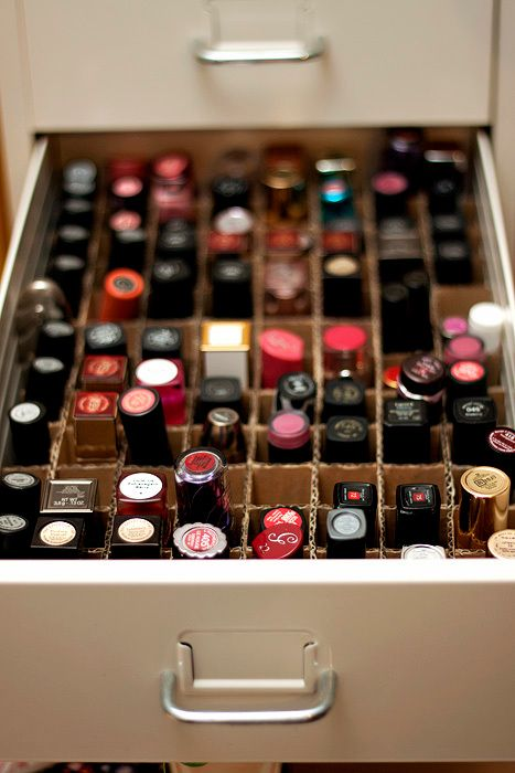 106 best re use diy card box organisers images on pinterest for the lipstick hoarders 8 ways to organize your collection diy makeup organizerlipstick solutioingenieria Gallery