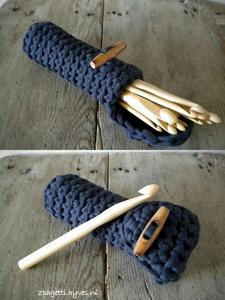 I need to make a hook caddy like this... I like it much better than the one I currently use!