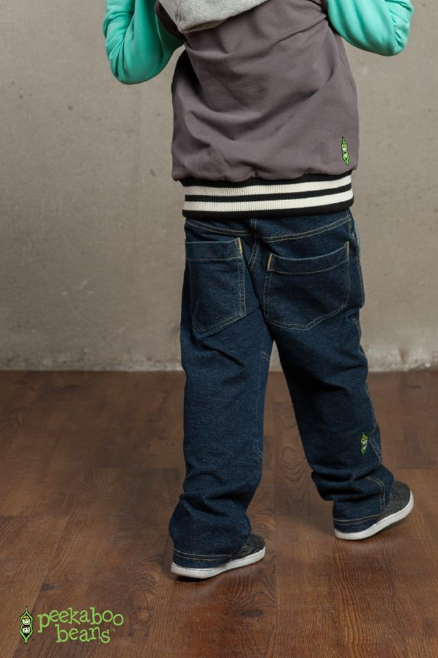 The Hang Out Pant - Our new Bean Jean for boys! | Peekaboo Beans - playwear for kids on the grow! | www.peekaboobeans.com