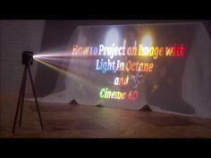 In this video, I show how to project an image or video with lights inside of octane and cinema 4D. I also show as a quick tip, how to render volumetric light...