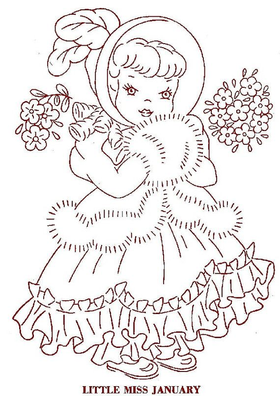 Hand Embroidery Quilt PATTERN 12 Dolls of the by BlondiesSpot, $3.99