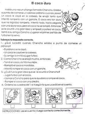 CoSqUiLLiTaS eN La PaNzA BLoGs: FICHAS PARA TRABAJAR COMPRENSIÓN DE TEXTOS