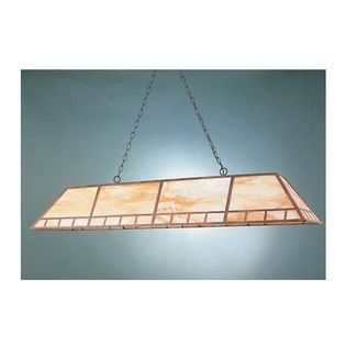 Hi-Lite MFG - 62 in. Brass Billiard Light w 3 ft. Chain in Rosewood Finish (Opal) - Color: OpalIncludes 3 ft. chain and 7 ft. wire. Requires (2) T8 or T12 flourescent 4 foot long bulbs (not included). UL listed. Made from Brass. Pictured with Honey Irri accent glass. 62 in. L x 10 in. W  x 16 in. H