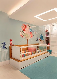 twins baby room, such a good idea, becomes a bench after too! I like the see through idea