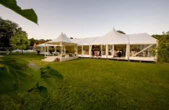 Our twin domed wedding marquee for a spacious feel