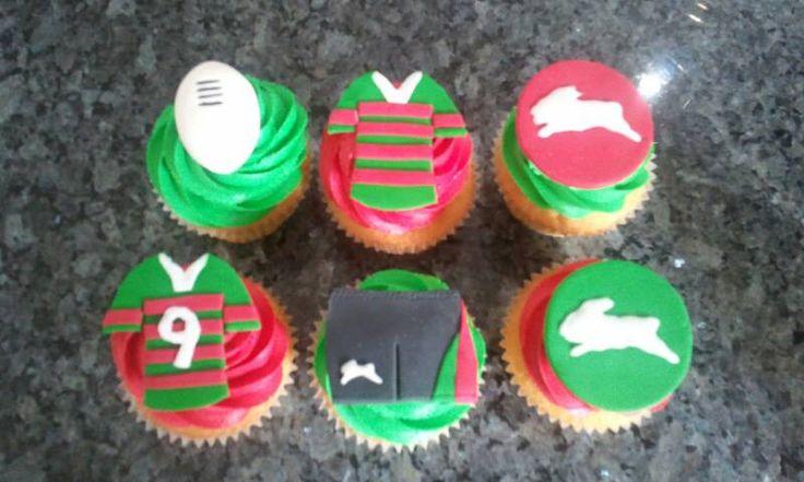 Rabbitohs cupcakes