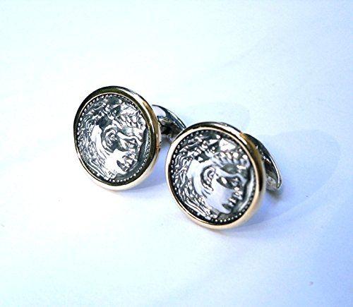 Gold & Silver Cufflinks - Hercules Konstantis Jewelry http://www.amazon.com/dp/B00QZGJF6S/ref=cm_sw_r_pi_dp_yWlkwb1M4890M