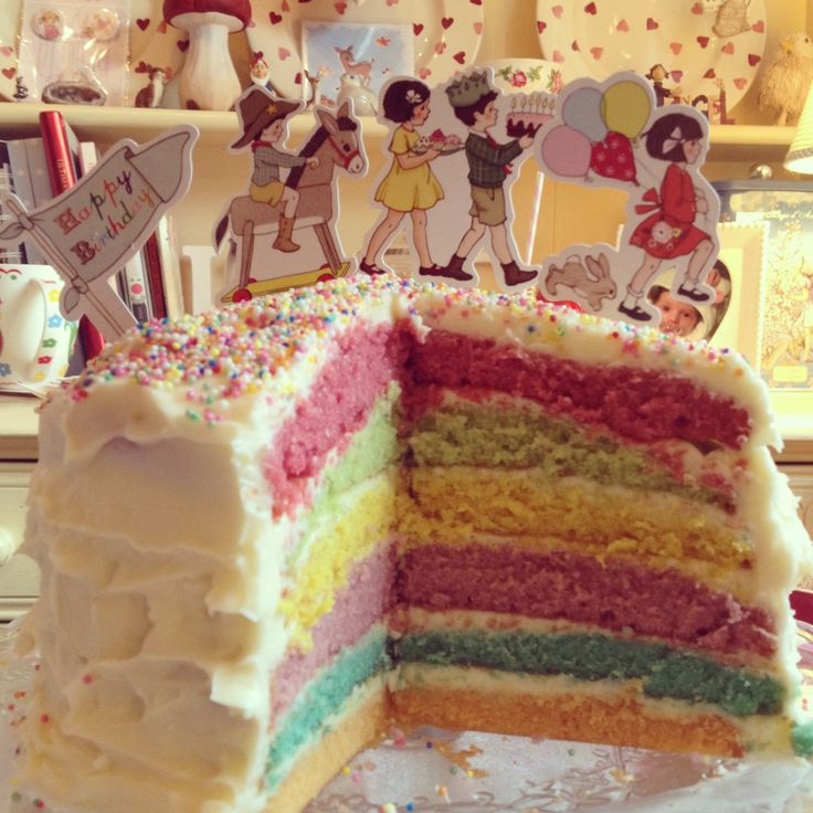 Belle and Boo...Rainbow cake x