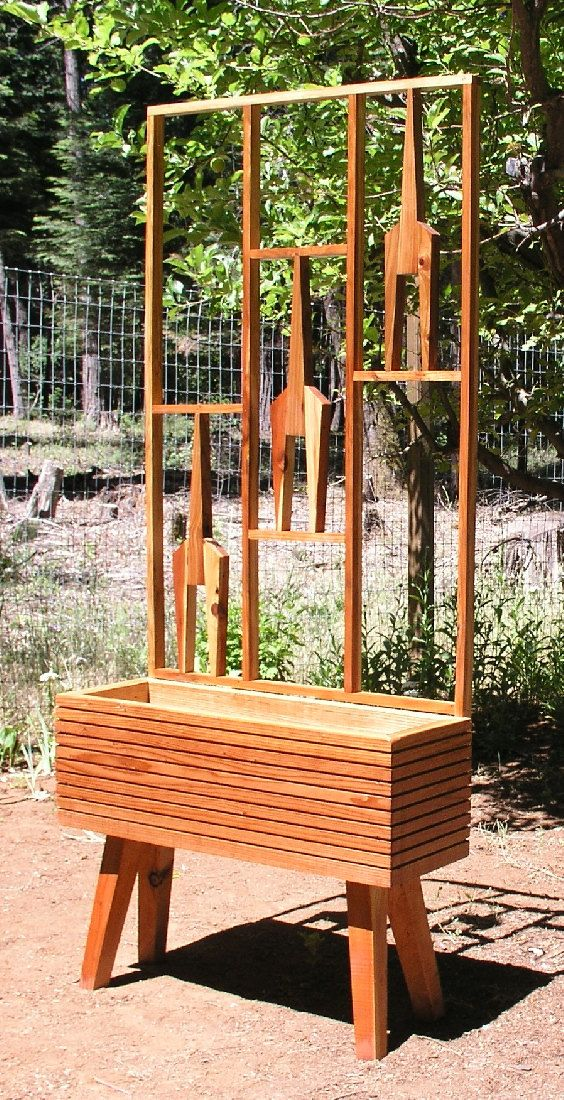 Mid Century Modern Garden Raised Planter Bed Option Mid