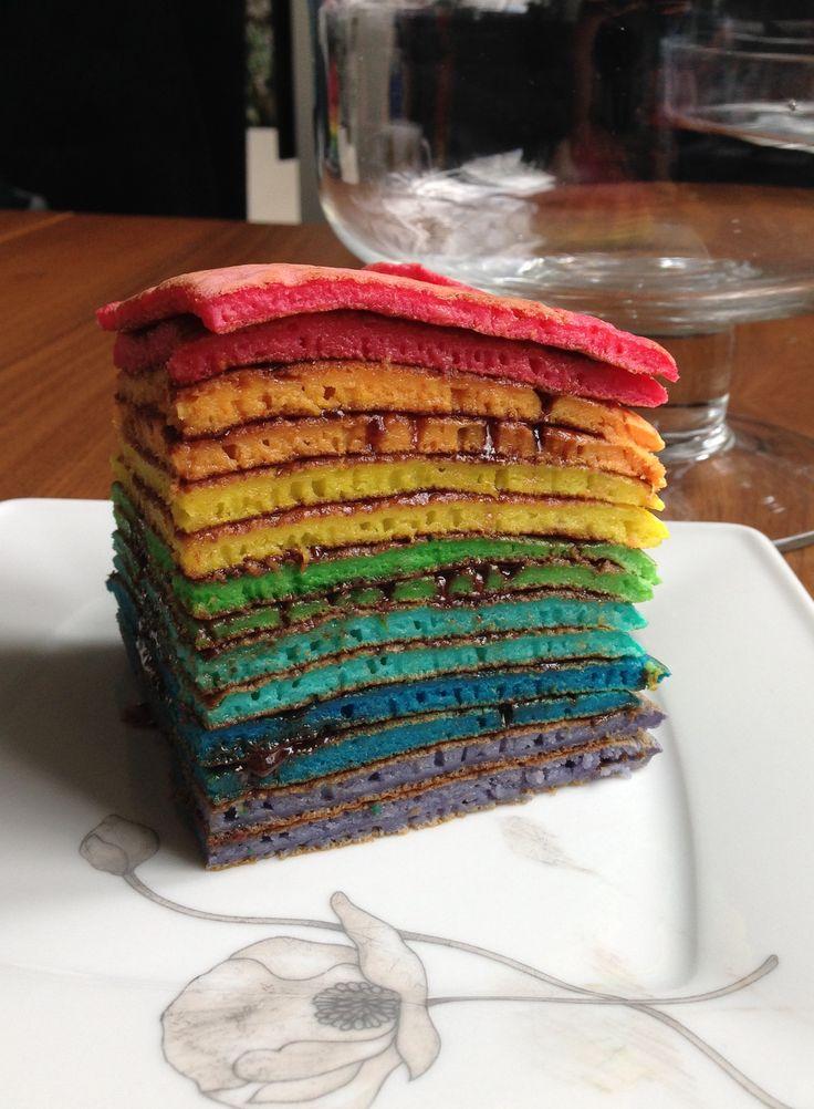Rainbow Pancakes - tęczowe naleśniki.