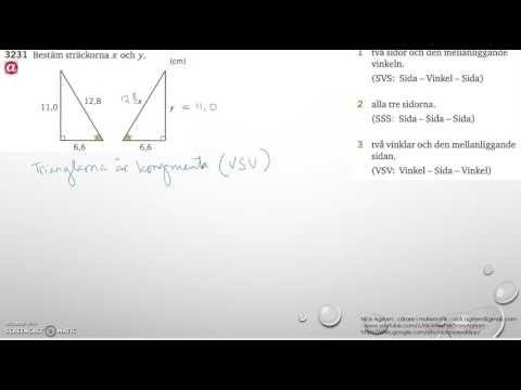 Matematik 5000 Ma 2b   Kapitel 3   Geometri   Kongruens   3231 och 3232