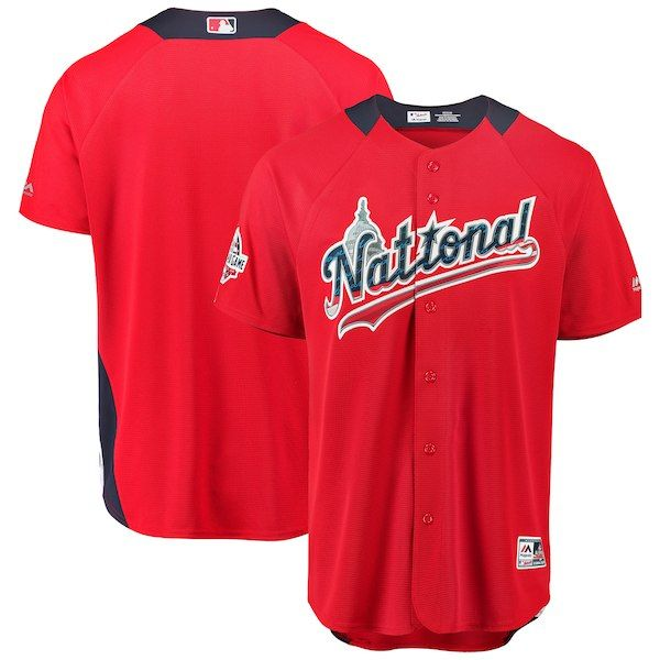 ab457fb522b Men s National League Majestic Scarlet 2018 MLB All-Star Game Home Run  Derby Team Jersey