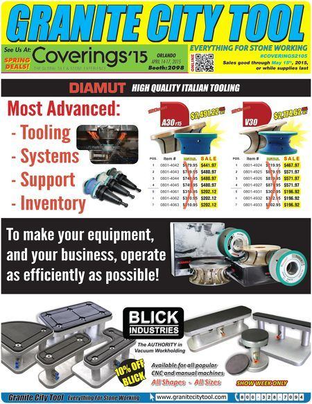 Flyer for the Coverings 2015 show!