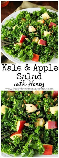 Kale & Apple Salad w Kale & Apple Salad with Honey  Kale is beautifully complimented by diced #apple and honey in this delicious and healthy salad. #kale #saladrecipes http://ift.tt/2wqHgiM; Recipe : http://ift.tt/1hGiZgA And @ItsNutella  http://ift.tt/2v8iUYW