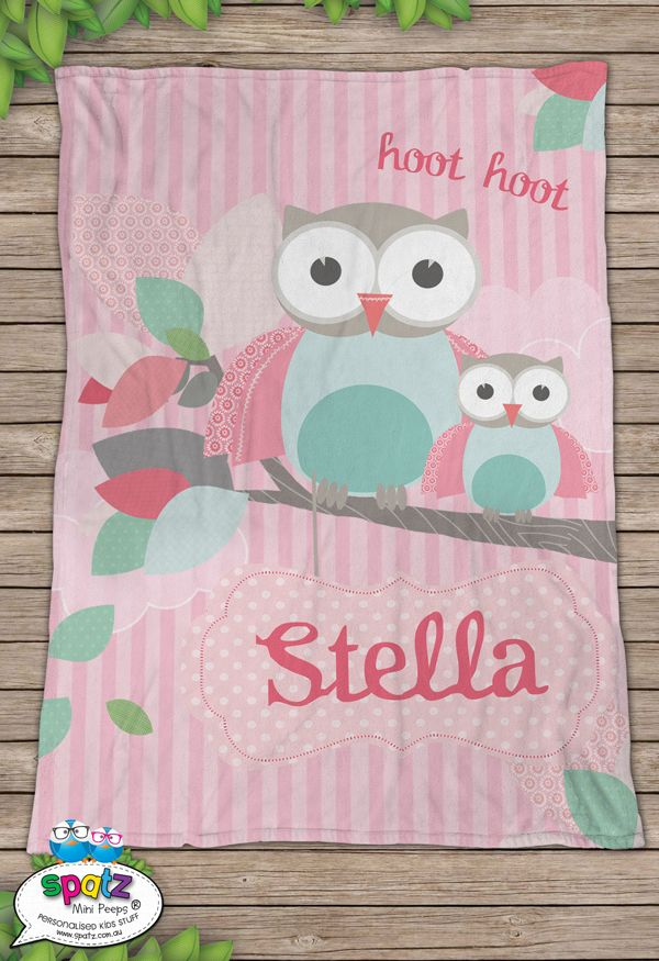 Our super awesome SPATZ Mini Peeps® Personalised Kids Fleece Blankets are made from a special fleece and are Stain resistant and make a great snuggle buddy! Not only will they keep your Mini Peep warm, they are great as a keepsake. Add some birth details or a special message to make an awesome christening or new baby gift!