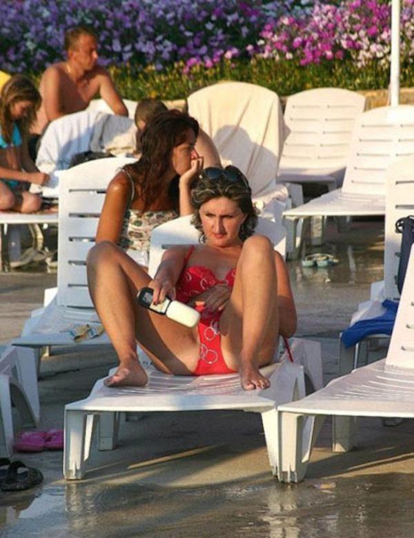 Taking a  selfie or checking her Brazilian wax? Ay Dio mio!  Brazilian Waxing @ Malabella studio! www.malabella.com
