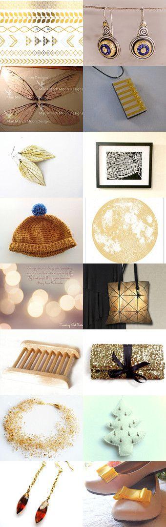 Gold-TreasuryTuesday by Bibe Jewelry on Etsy--Pinned with TreasuryPin.com