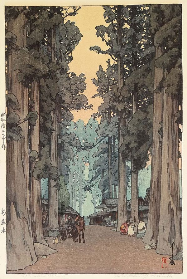 Hiroshi Yoshida. amazing woodcuts! he also wrote a great book on woodblock printing which I read last year. so fun to suddenly find all of these online!