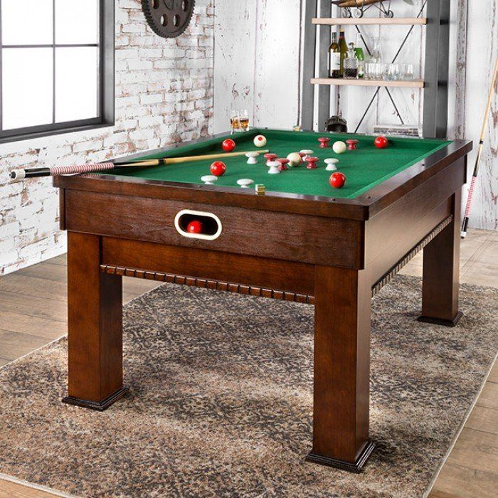 Furniture of America CM-GM336 Cherry Finish Bumper Pool Table Set