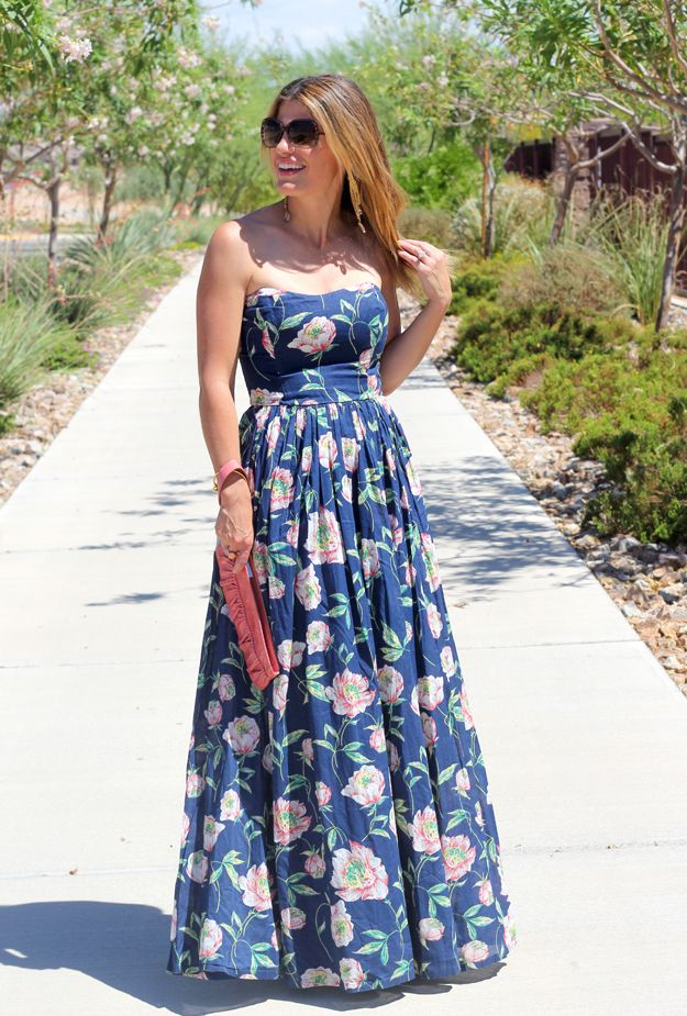 Floral maxi dress for summer perfect for summer wedding for Summer maxi dress for wedding