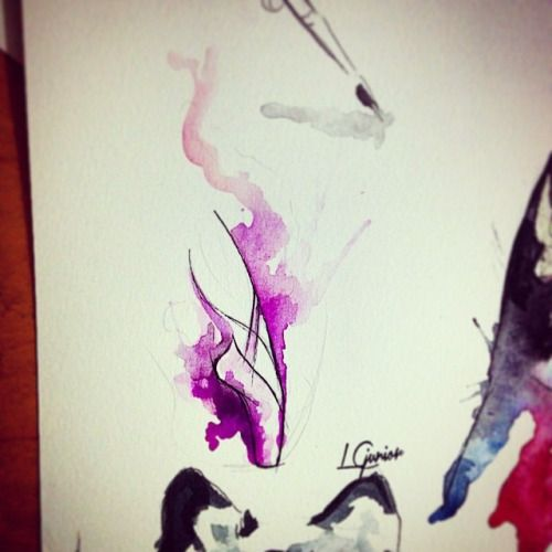 Ballet Tattoo • #watercolor #watercolortattoo #ballet #tattoo #tattooart #lcjunior #sketch #art #arte #sapatilha #violet #lcjunior #aquarela