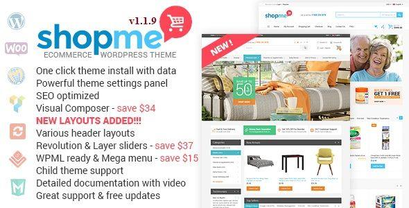 ShopMe V1.1.9 E-Commerce WordPress Theme Free Download