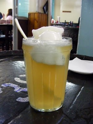 terremoto---chilean wine and pineapple sorbet drink. must try