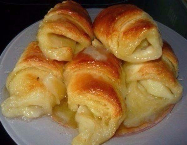 Фото к рецепту: Слойки с яблоками