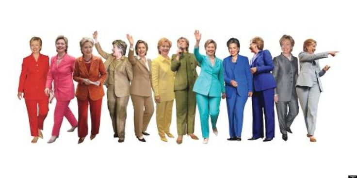 Hillary Clinton has taken flack over the years for her devotion to pantsuits -- and for showing her cleavage, and for wearing scrunchies, and...