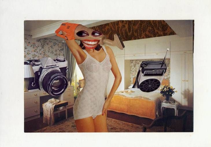 Linder, Untitled 1976 Linder Sterling's photomontages, combines images from pornographic magazines with pictures from women's magazines, make a powerful feminist statement.