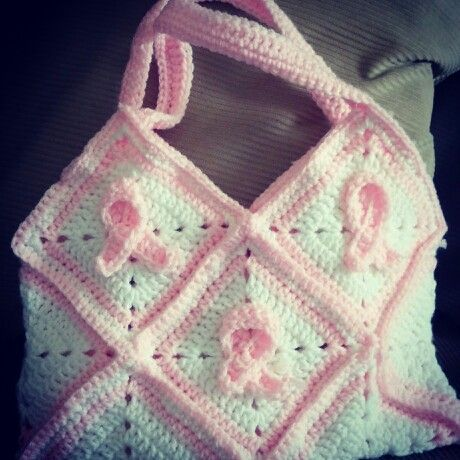 Handmade crochet Breast Cancer Awareness/Pink Ribbon ...