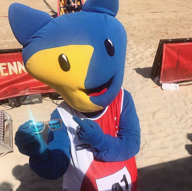 Wicked at BEACH VOLLEYBALL WORLD CHAMPIONSHIPS #worldchampsvienna  @wicked_design.at  #beachvolleyball #mascot #vienna #sunglasses #wood #summer #wooden #forest #nature #naturelovers #surferstyle #gosurfing #tribal #easygoing #travel #lifestyle #wickedwood #roamtheplanet #wanderlust #justpassingthrough #wicked #travelstyle #beachvienna2017 #beachvienna