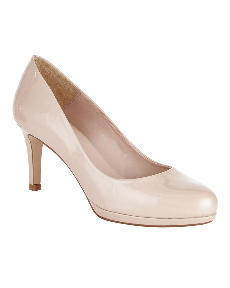 Phase Eight Amara Leather Court Shoes Neutral
