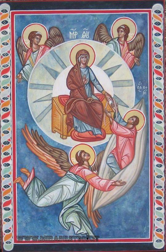 Icona dell'Assunzione della B.V.Maria al cielo,per mano di Cristina Capella