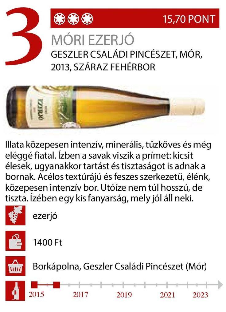 Először kóstolta Vince Magazin a borunkat és ízlett nekik, aminek nagyon örülünk: köszönjük szépen! Reméljük, hogy így van ezzel minden kóstolója! :-) Megjelent a Vince Magazin 2015. márciusi számában. A borról bővebben: http://geszlerpince.hu/borok-geszler-csaladi-pinceszet-mor/mori-ezerjo-2013#tartalom A VinCE Budapesten is ott voltunk: http://geszlerpince.hu/vince-budapest-wine-show-2015